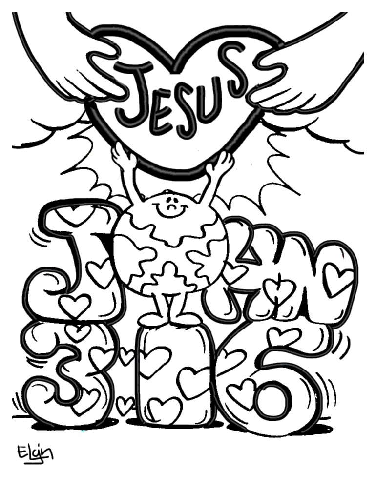 john 3 16 coloring page - ment page 1