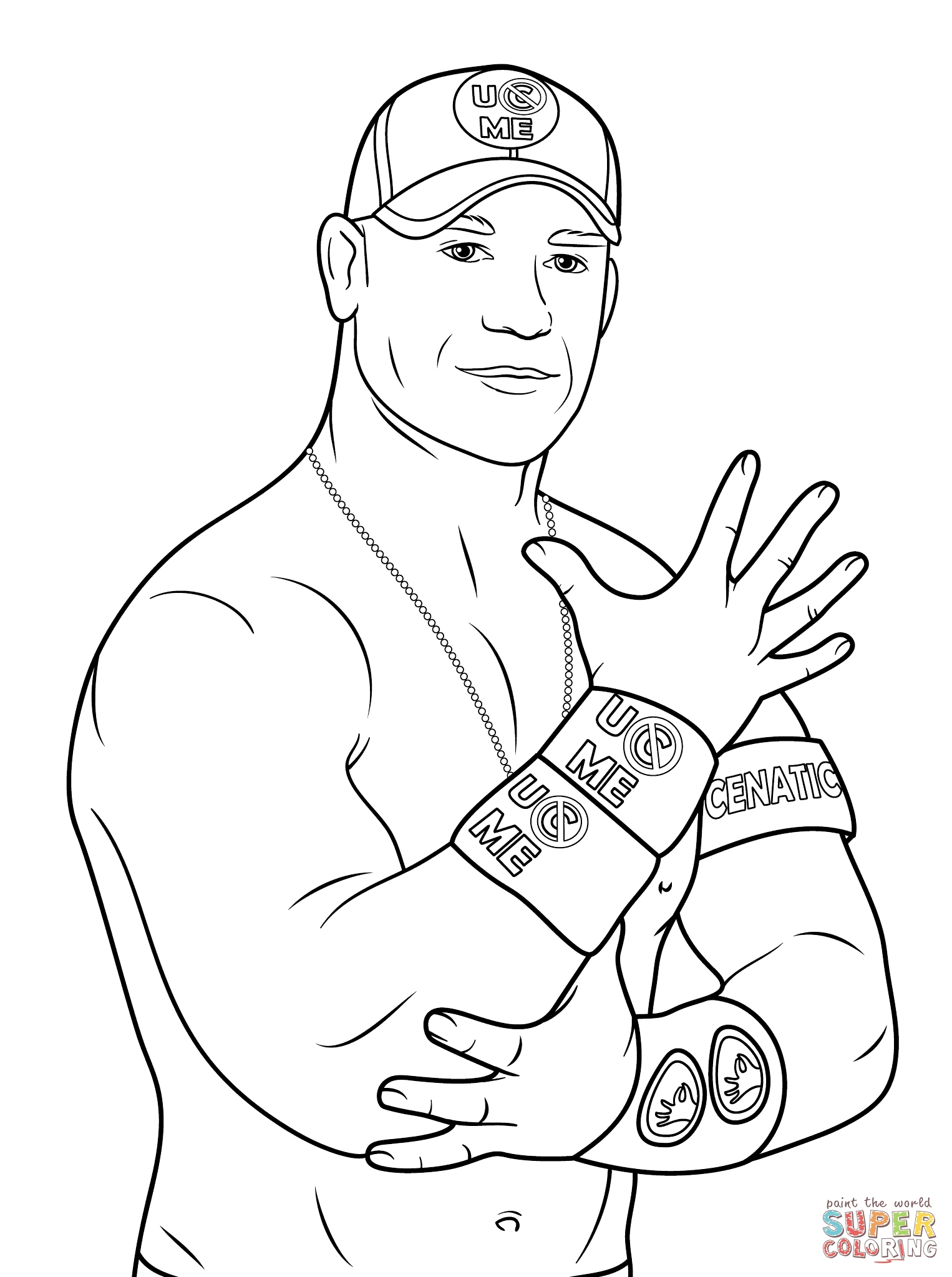 john cena coloring pages - john cena