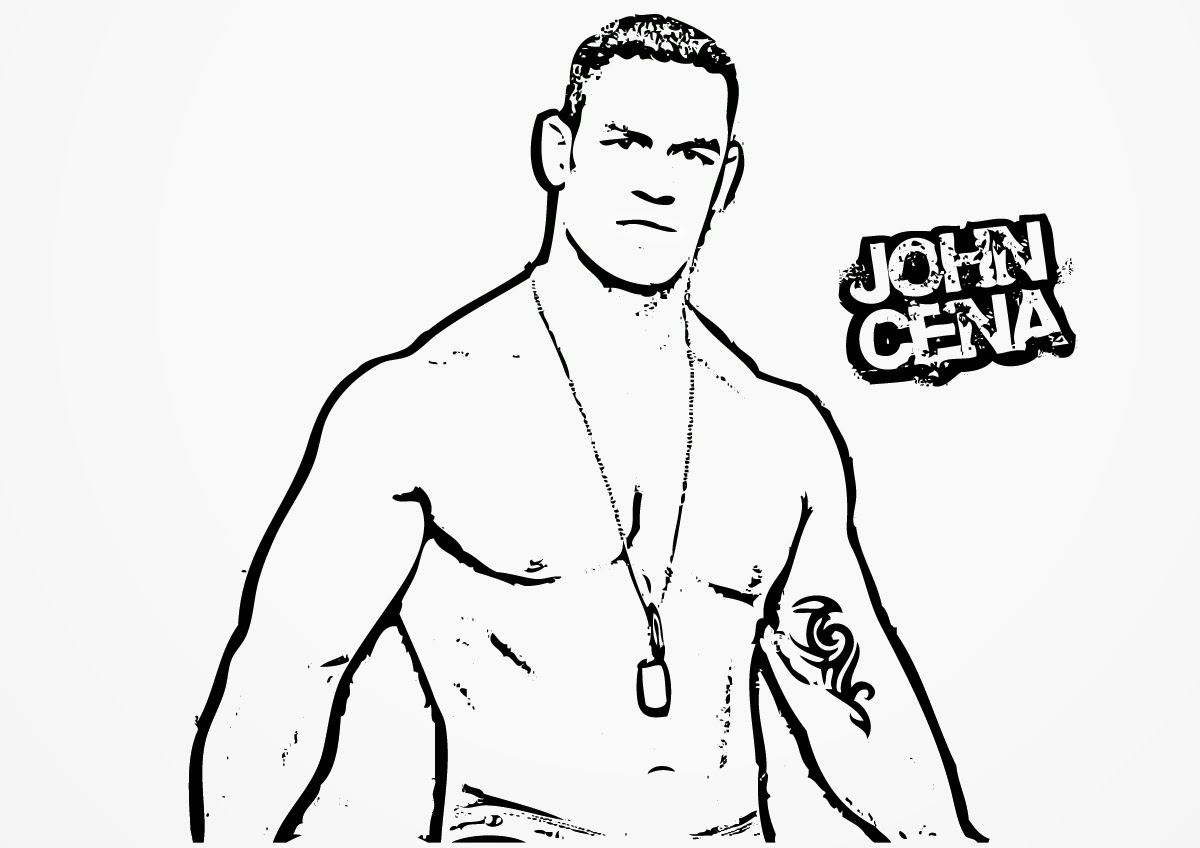 john cena coloring pages - wwe coloring pages john cena