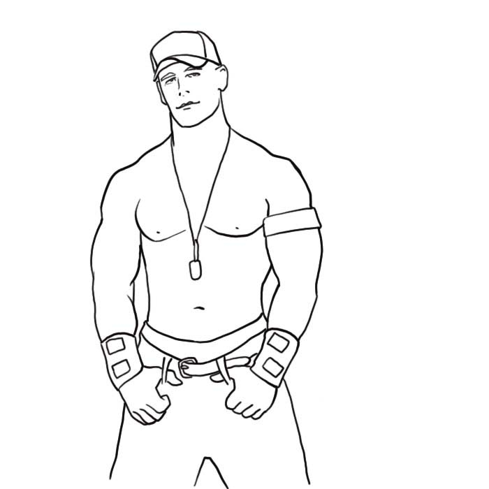 john cena coloring pages - wwe john cena coloring pages