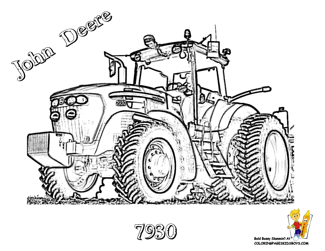 john deere coloring pages - gritty tractor coloring pages