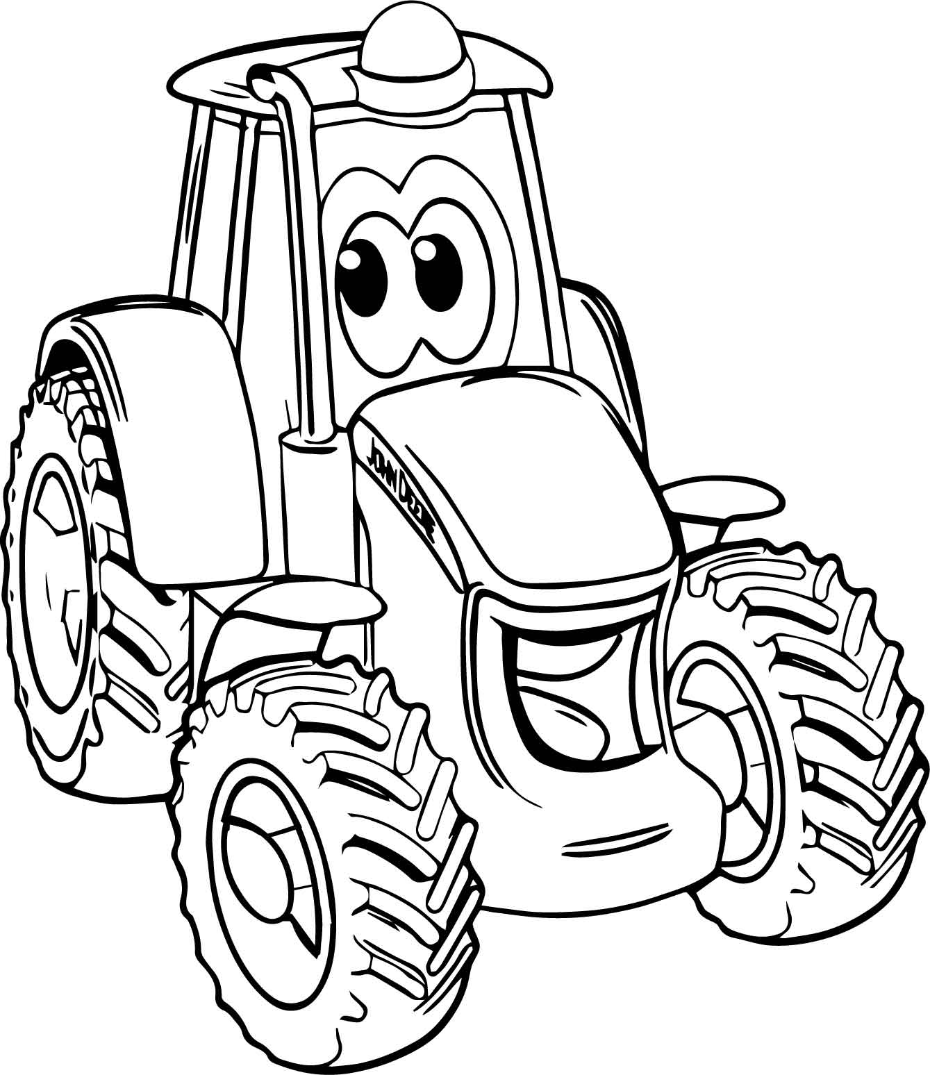 john deere coloring pages - smile john deere tractor coloring page