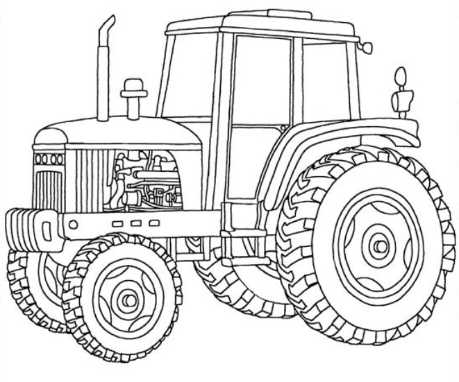 john deere tractor coloring pages - john deere farm tractor coloring page sketch templates