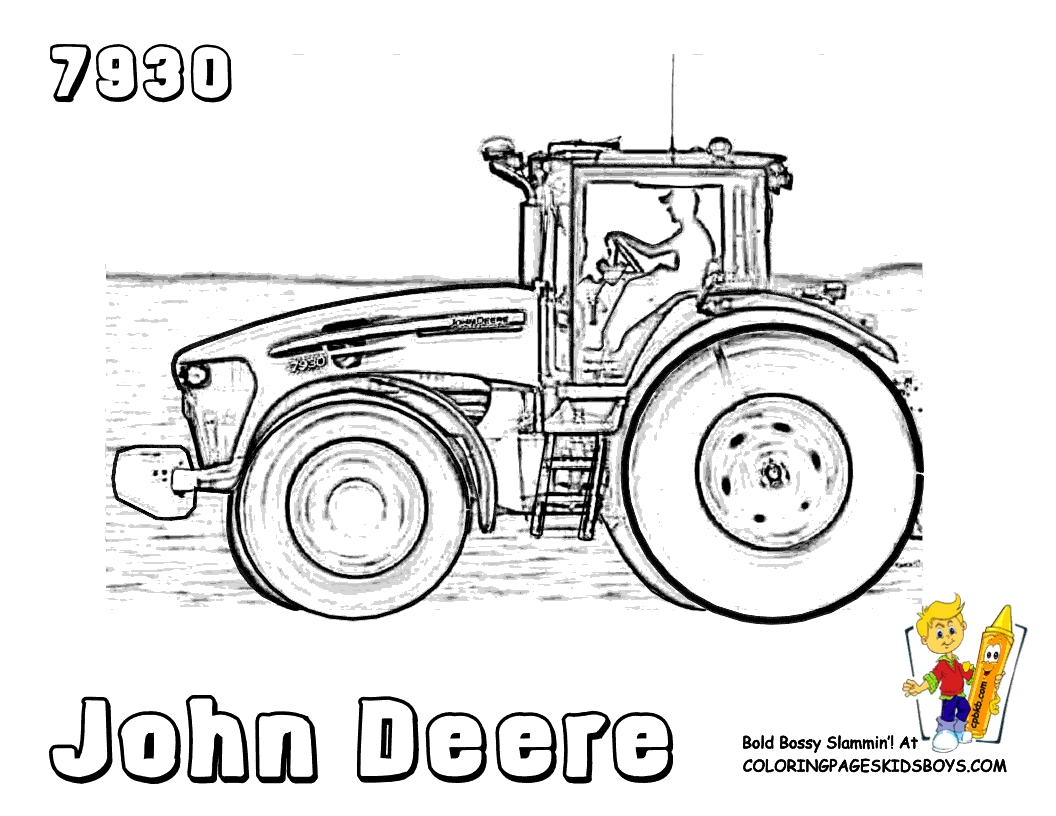 john deere tractor coloring pages - gritty tractor coloring pages