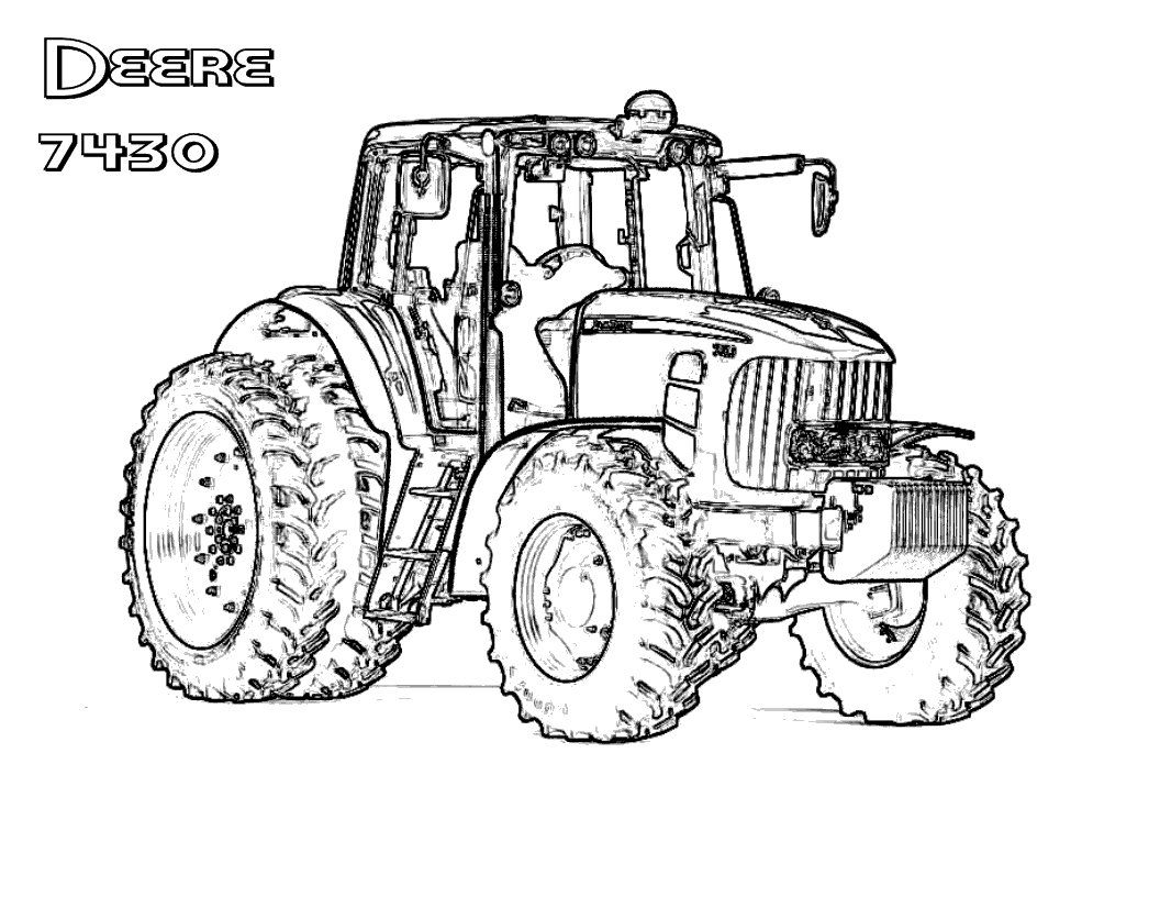 28 John Deere Tractor Coloring Pages Selection | FREE ...