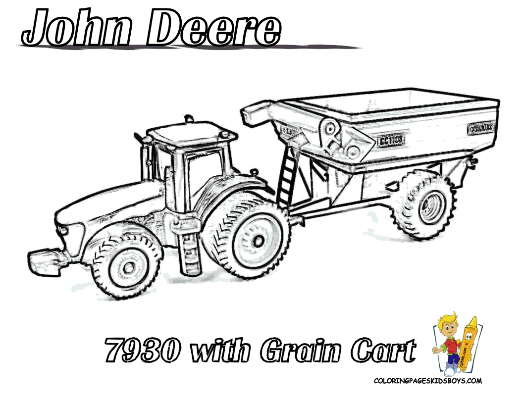 john deere tractor coloring pages - tractor coloring pages