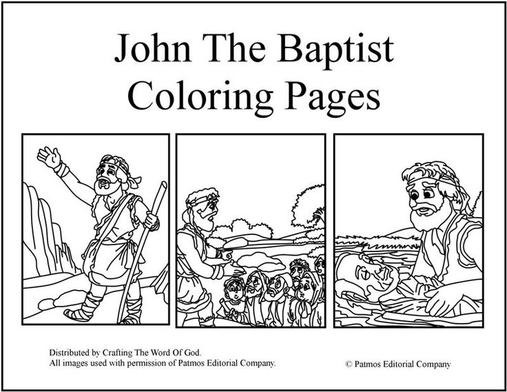 john the baptist coloring page - john the baptist