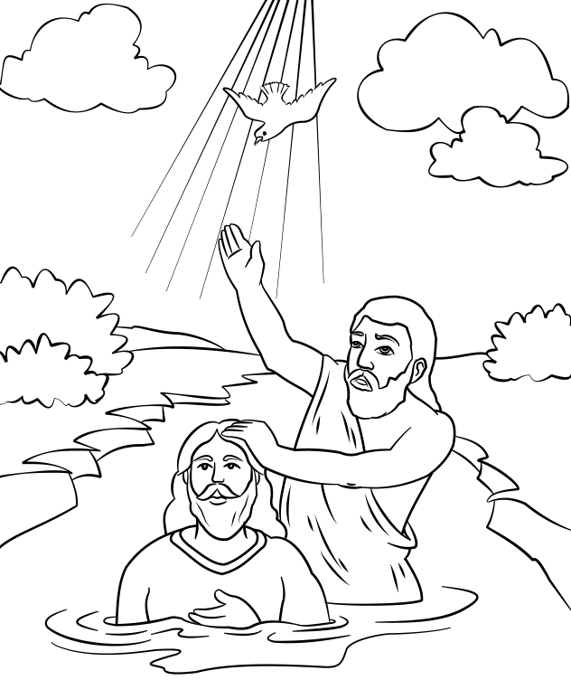 john the baptist coloring page -