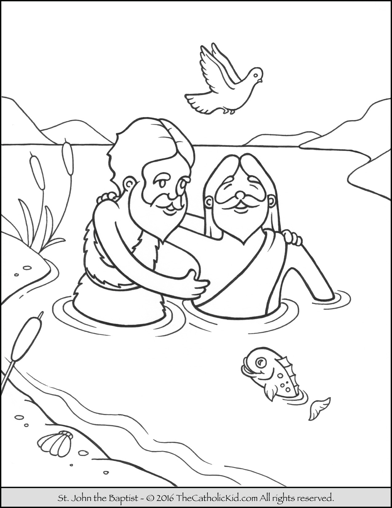 john the baptist coloring page - saint john the baptist coloring pages