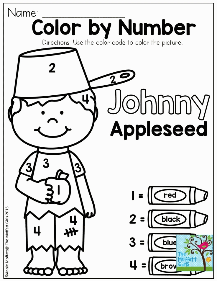 johnny appleseed coloring page - johnny appleseed coloring pages