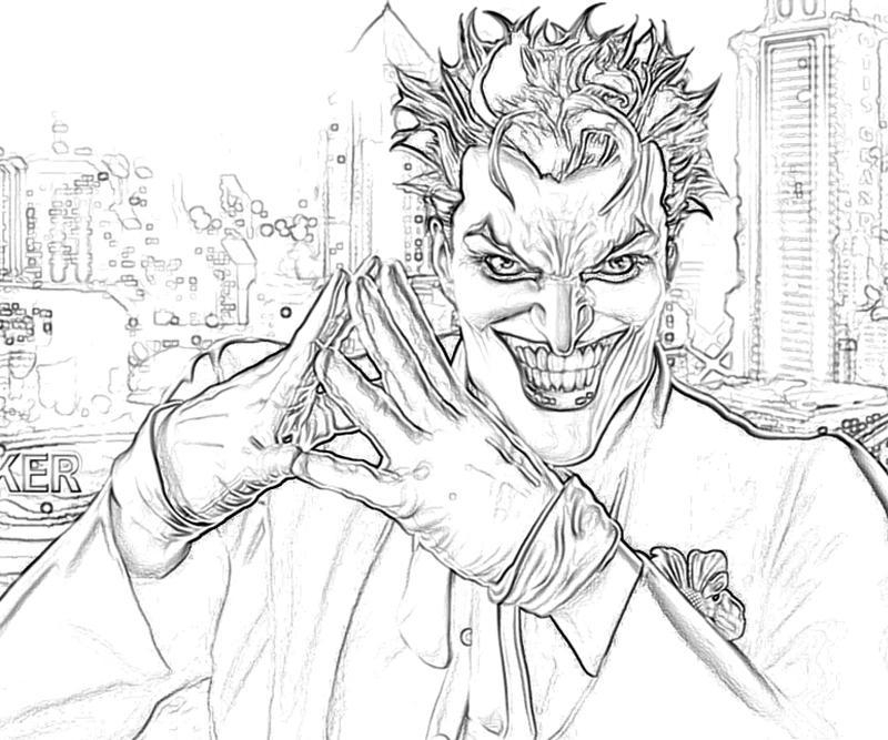 joker coloring pages - free printable joker coloring pages 2