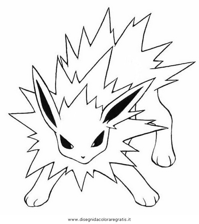 jolteon coloring pages - q=n jolteon