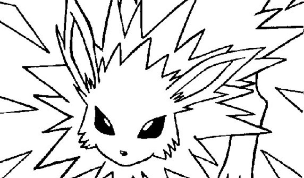 jolteon coloring pages - awesome coloring pokemon coloring pages jolteon in pokemon coloring pages eevee eevee evolutions evolution pokemon