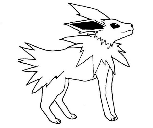 jolteon coloring pages - pages iphone coloring pokemon coloring pages jolteon new at jolteon and le and vulpix coloring page kids play color