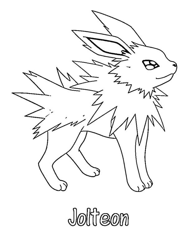 jolteon coloring pages - pokemon jolteon coloring pages images