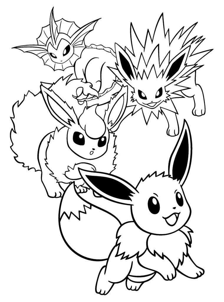 jolteon coloring pages - pokemon jolteon coloring pages printable images