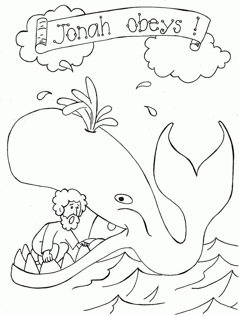 jonah and the whale coloring page - jonah and the whale coloring pages