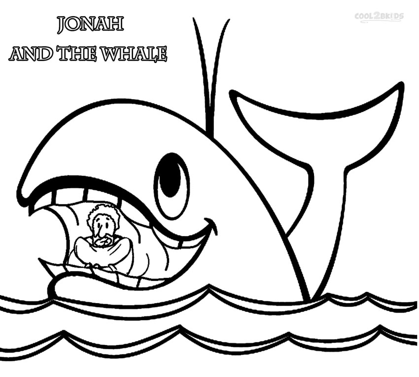 Jonah and the Whale Coloring Page - Printable Jonah and the Whale Coloring Pages for Kids