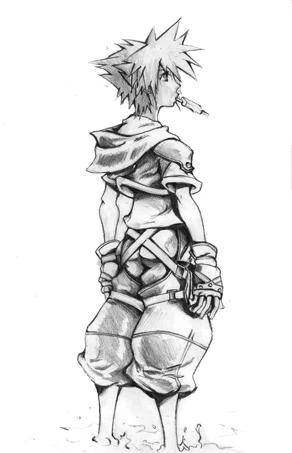 jonah coloring pages - awesome drawing of sora coloring page
