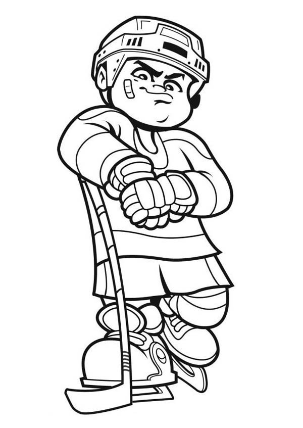 jonah coloring pages - best hockey player coloring page