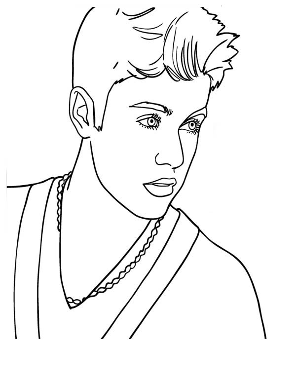 jonah coloring pages - canadian pop singer justin bieber coloring page