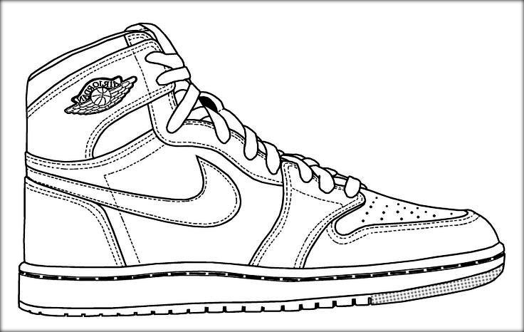 jordan coloring pages - basketball jordan shoe coloring pages