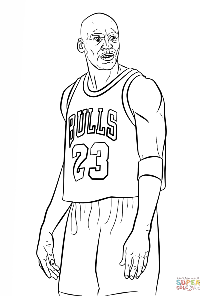 jordan coloring pages - michael jordan