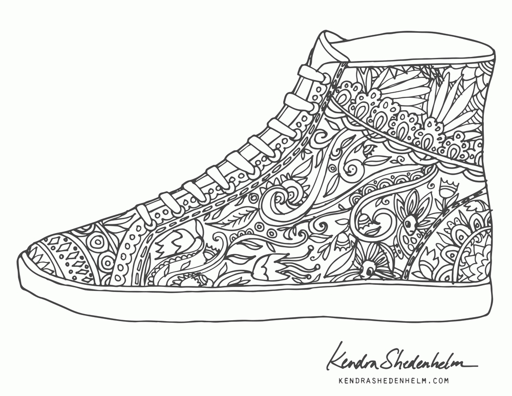 jordan coloring pages - jordan 4 coloring page