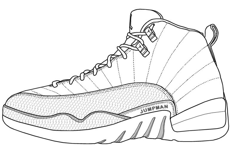 jordan coloring pages - jordan coloring pages shoes for property