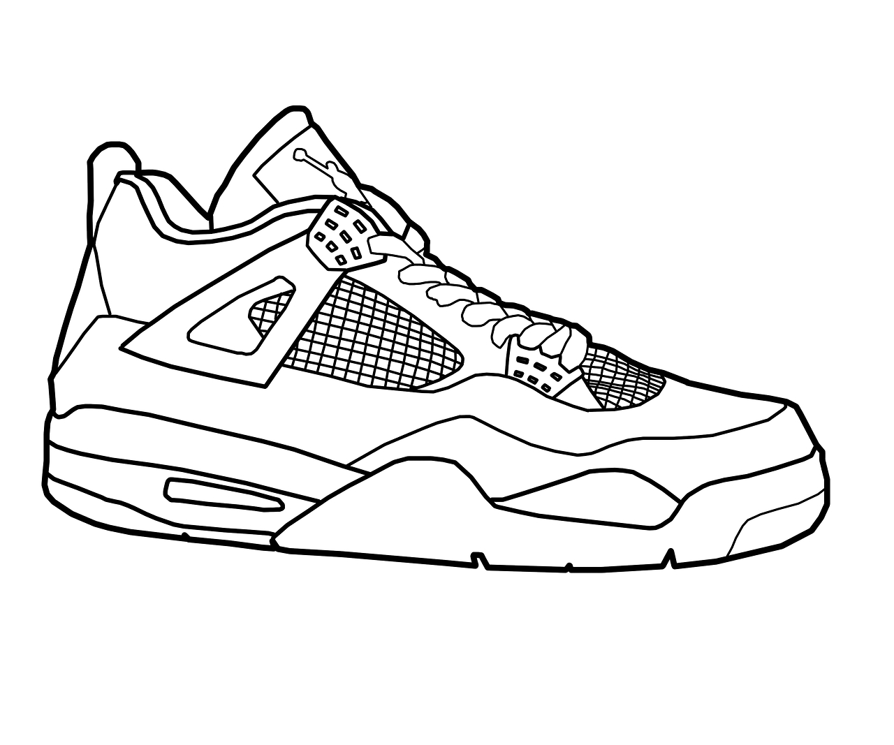 jordan coloring pages - jordan shoes coloring page