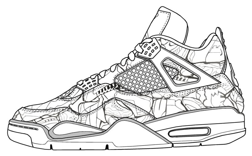 jordan coloring pages - jordan shoes coloring pages 5 sketch templates
