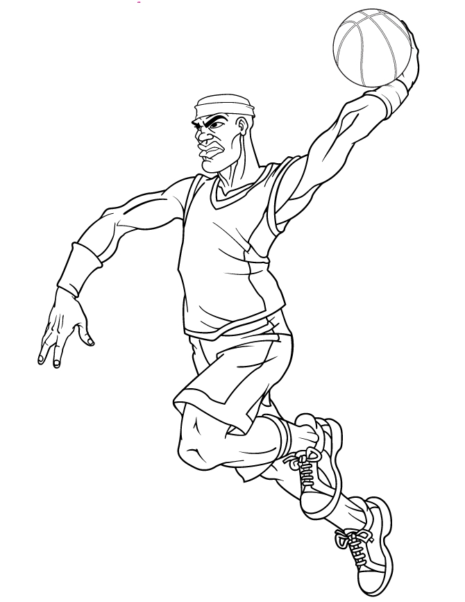 jordan shoes coloring pages - basketball player coloring pages