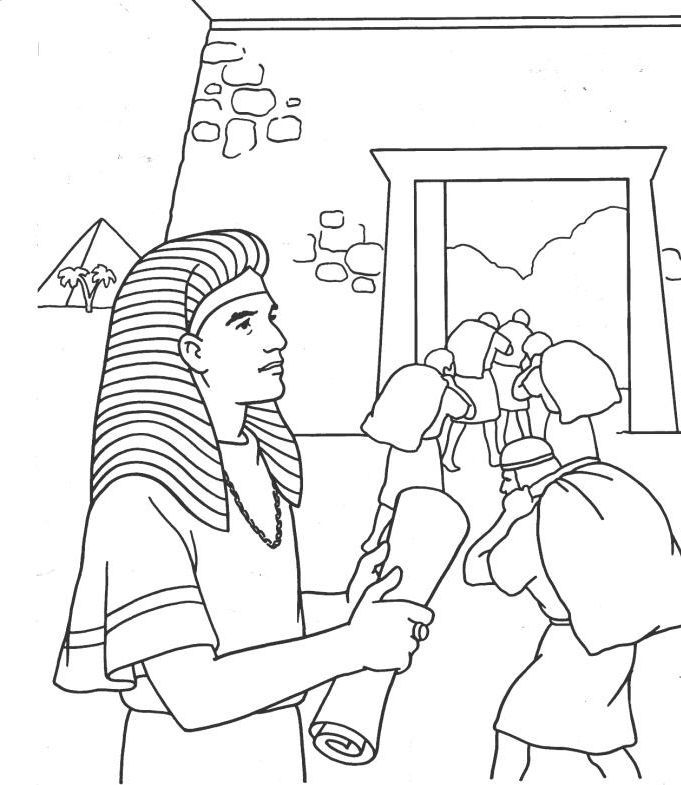 joseph coat of many colors coloring page - joseph and pharaoh coloring page