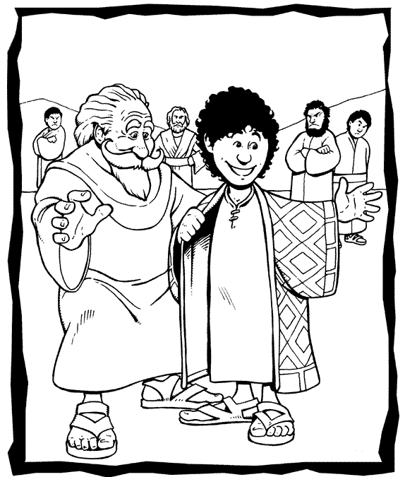 joseph coat of many colors coloring page - joseph coat index