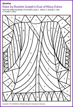 joseph coat of many colors coloring page - sunday school
