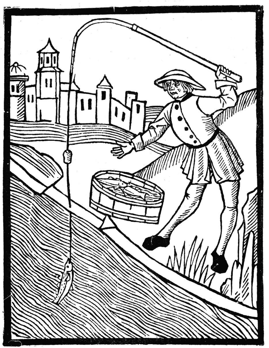 joseph coloring pages - File Brief History of Wood engraving Wynkyn de Worde Fishing