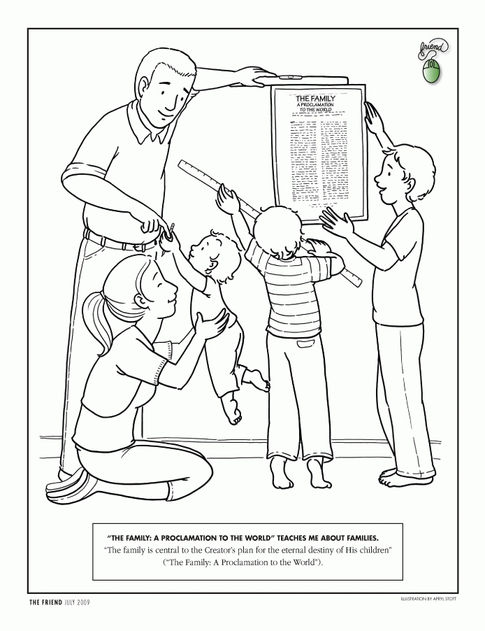 joseph smith coloring pages - obe nce coloring page