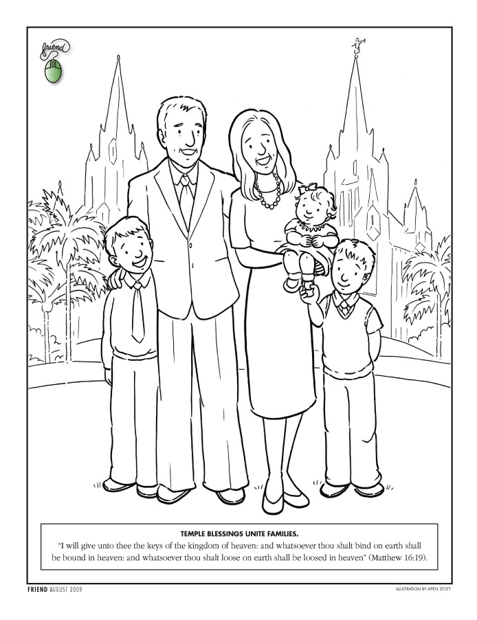 joseph smith coloring pages - temple coloring page
