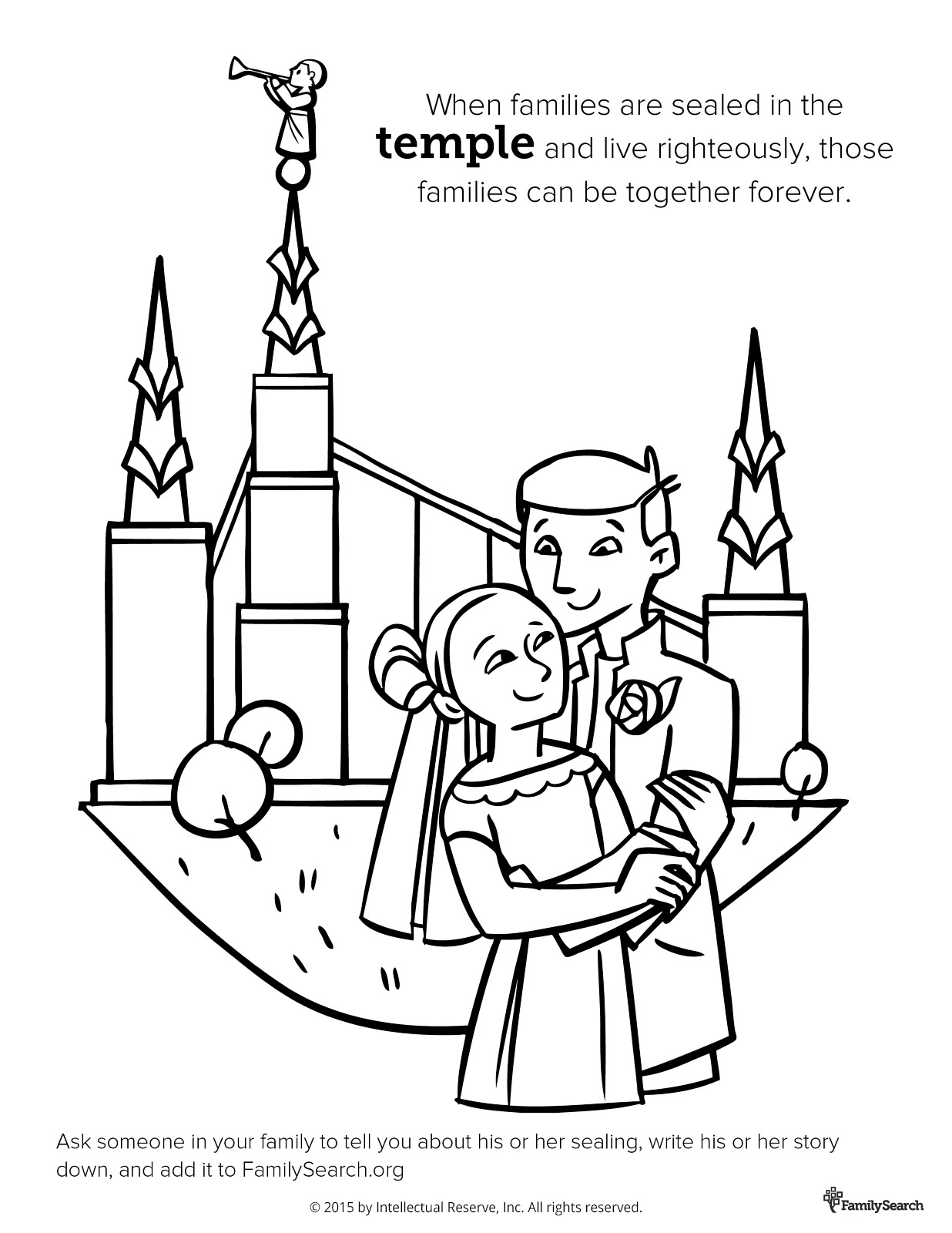Joseph Smith Coloring Pages - Temple Sealing