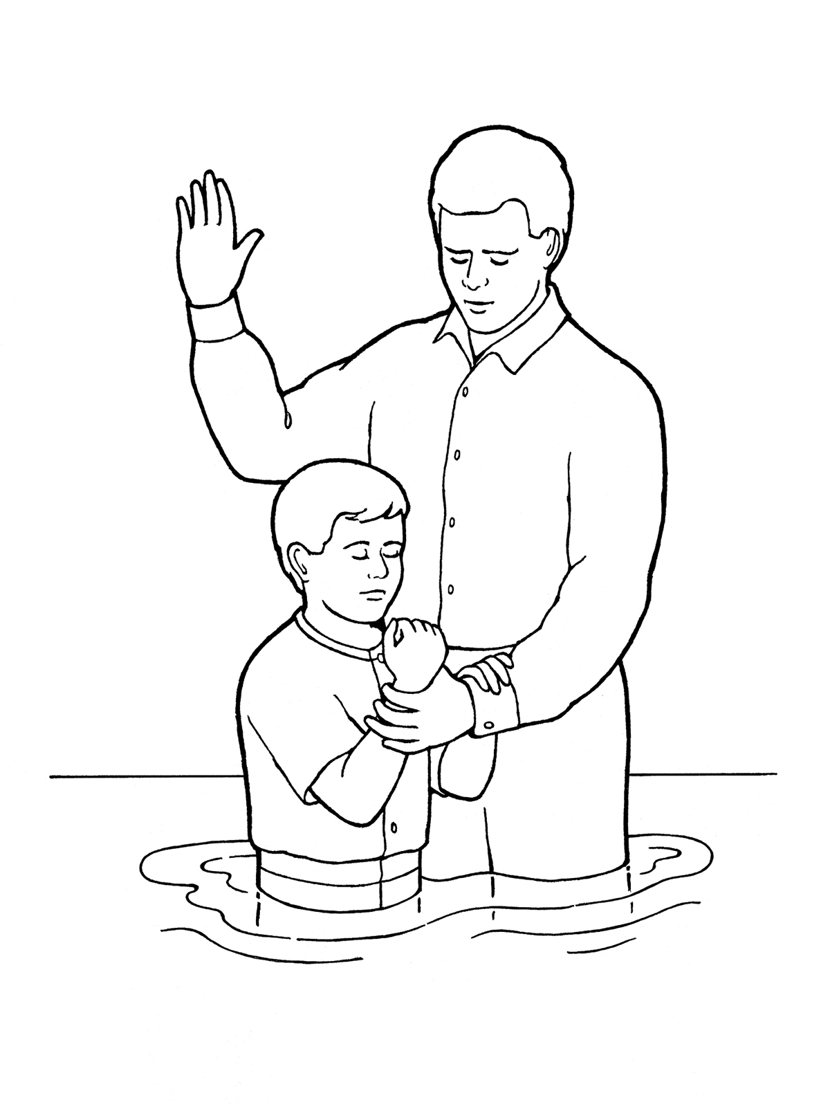 joseph smith coloring pages - boy being baptized lang=eng