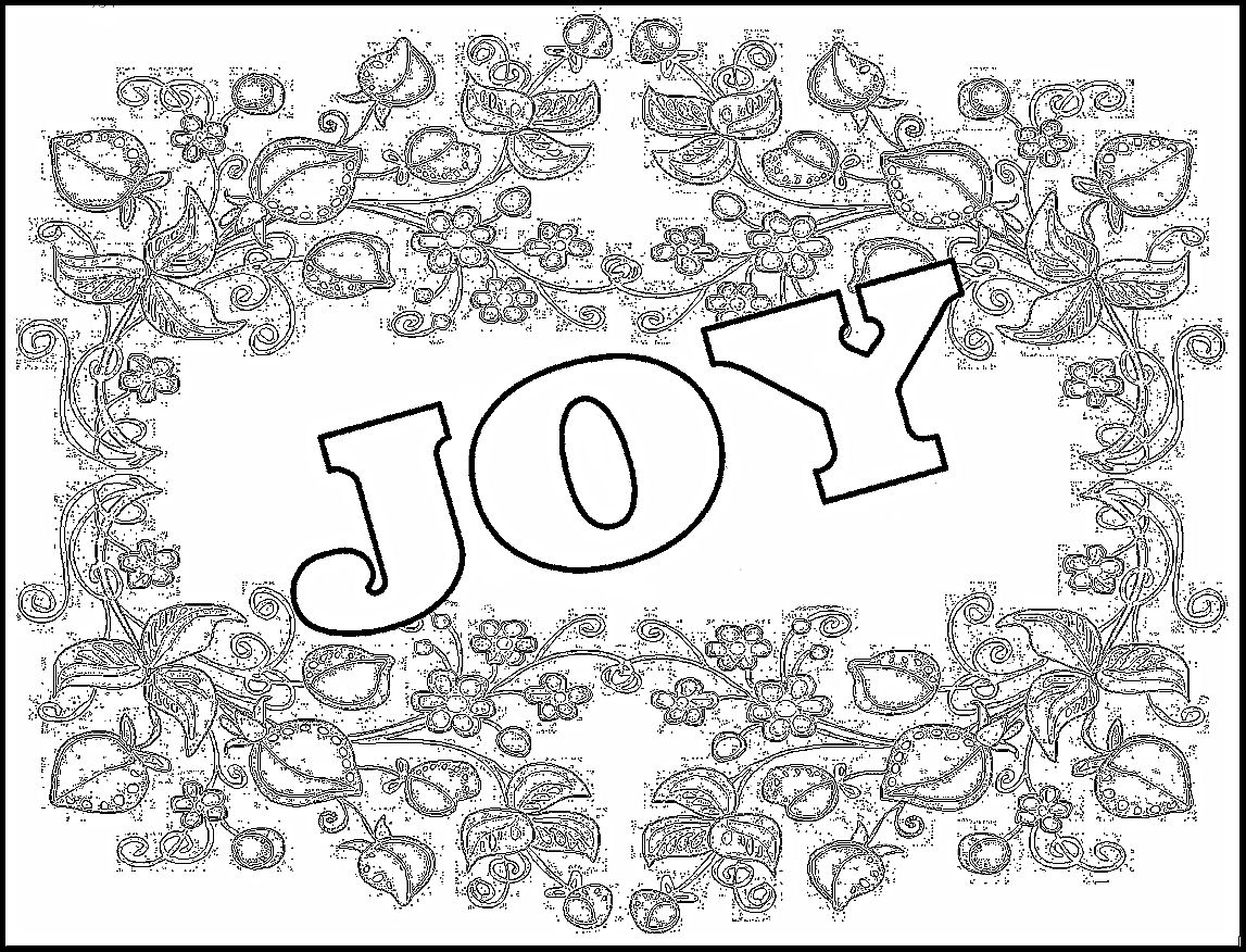 joy coloring page - joy coloring sheets