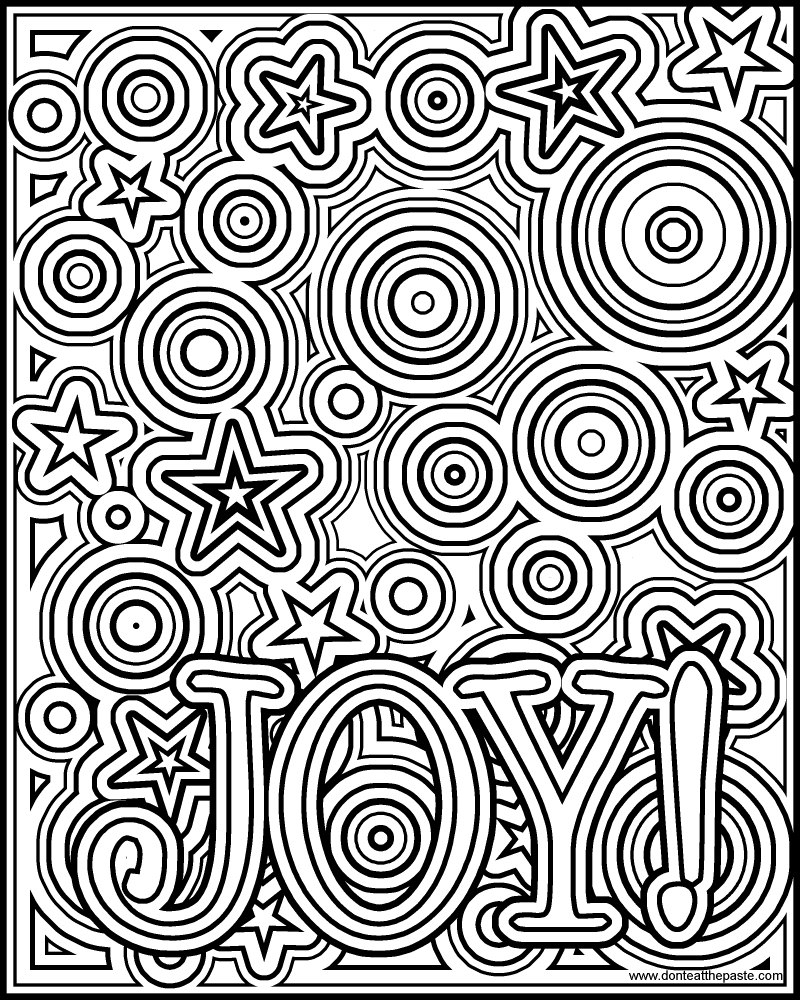Joy Coloring Page - Don T Eat the Paste Joy Coloring Page