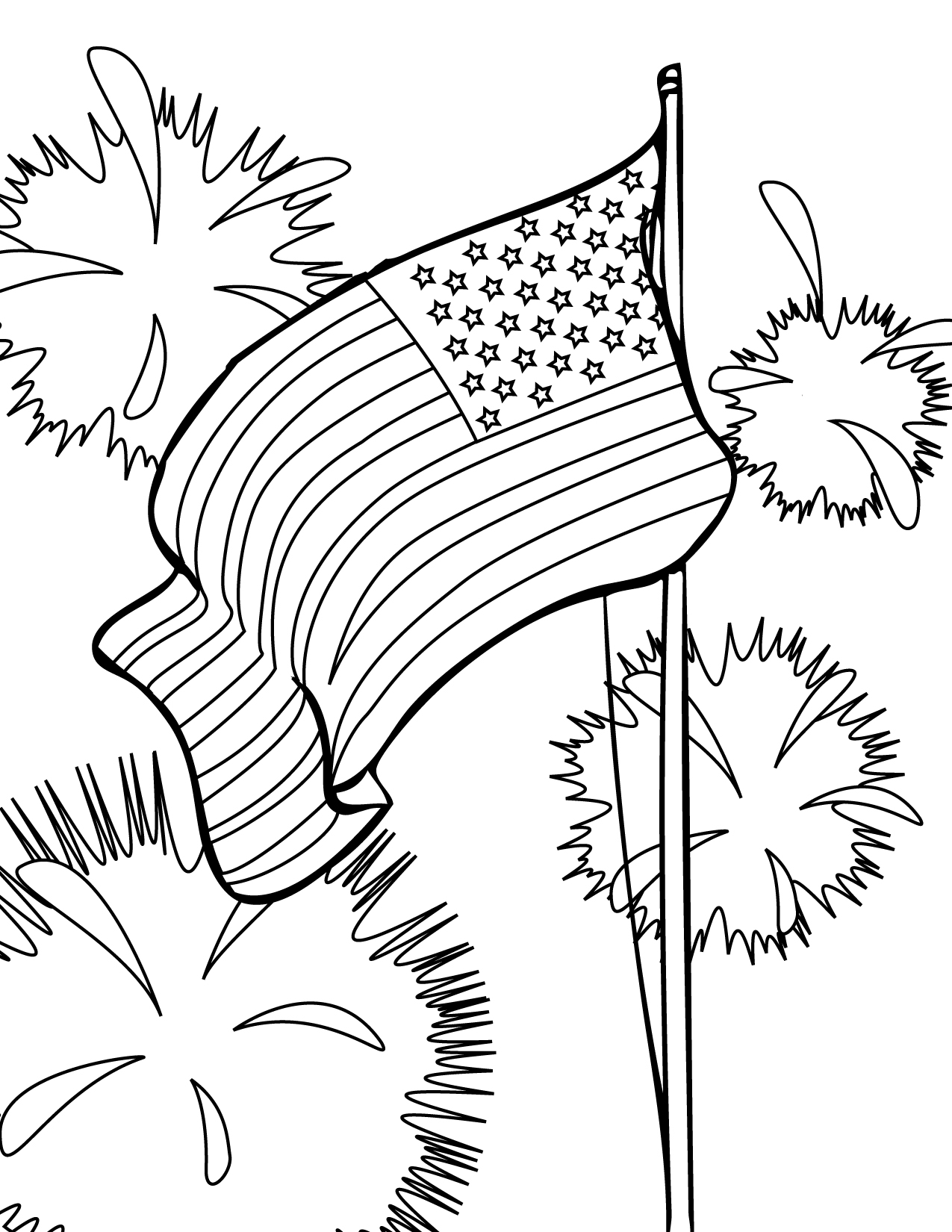 july coloring pages - 4th of july coloring pages