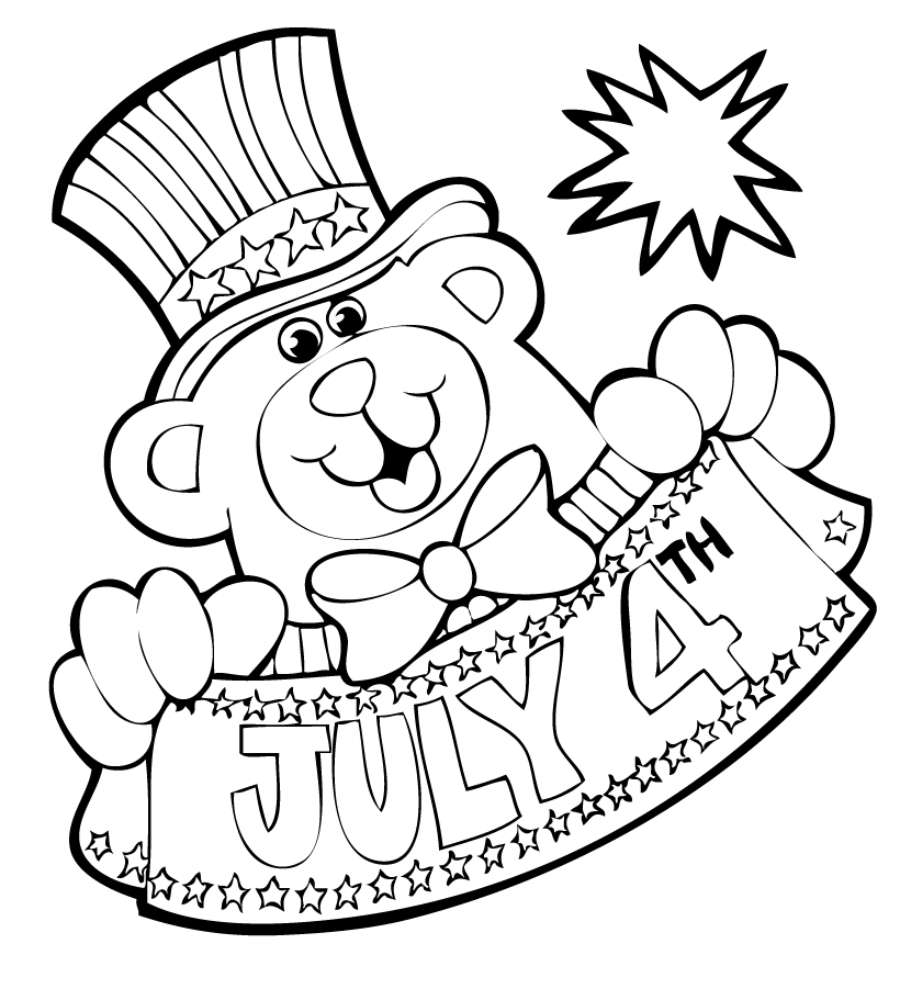 July Coloring Pages - Ausmalbilder Für Kinder Malvorlagen Und Malbuch • 4th