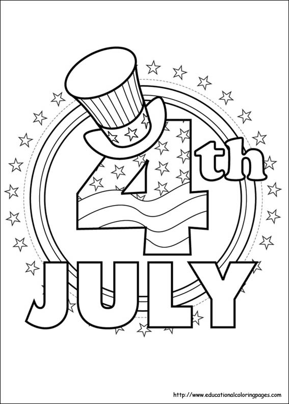 july coloring pages - Fourth July