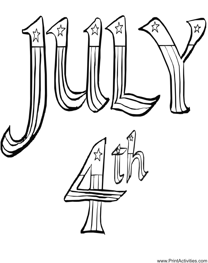 july coloring pages - fourth of july