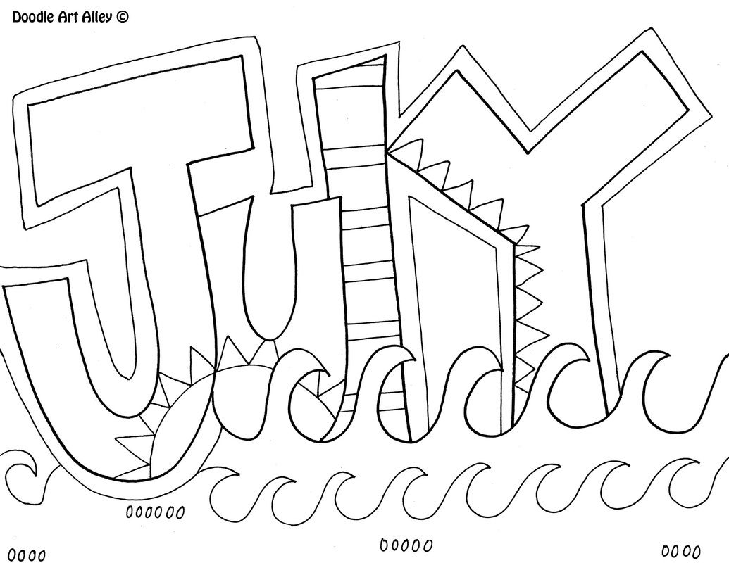 july coloring pages -
