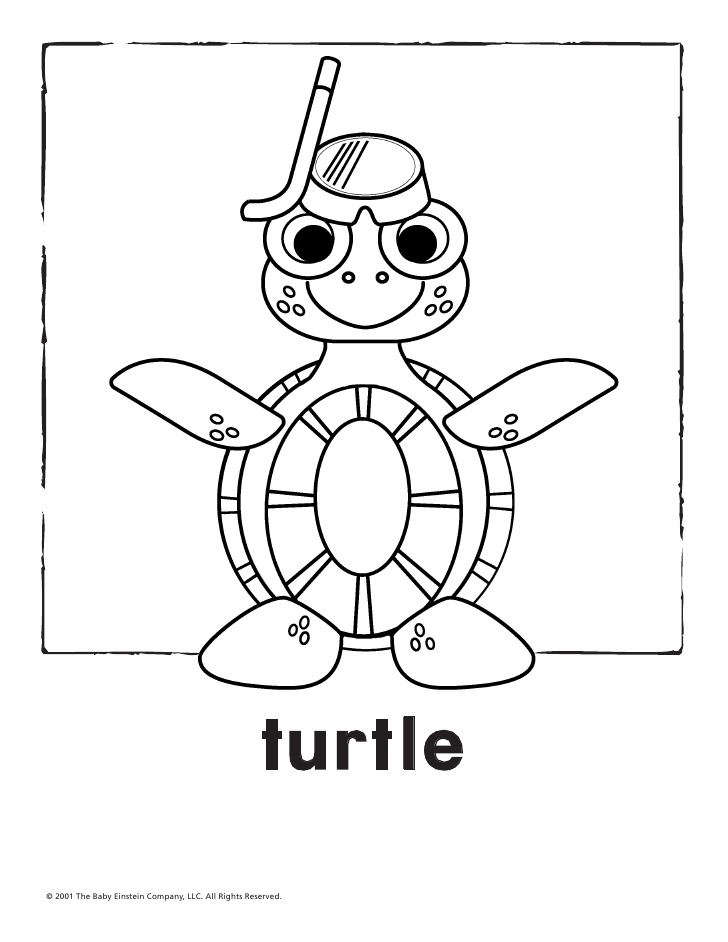 jungle animals coloring pages - baby einstein world animals coloring sketch templates