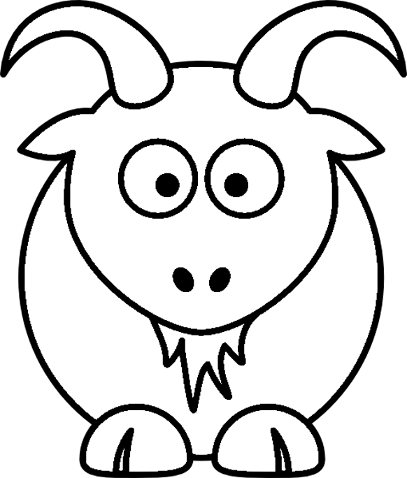 jungle animals coloring pages - cartoon baby farm animals