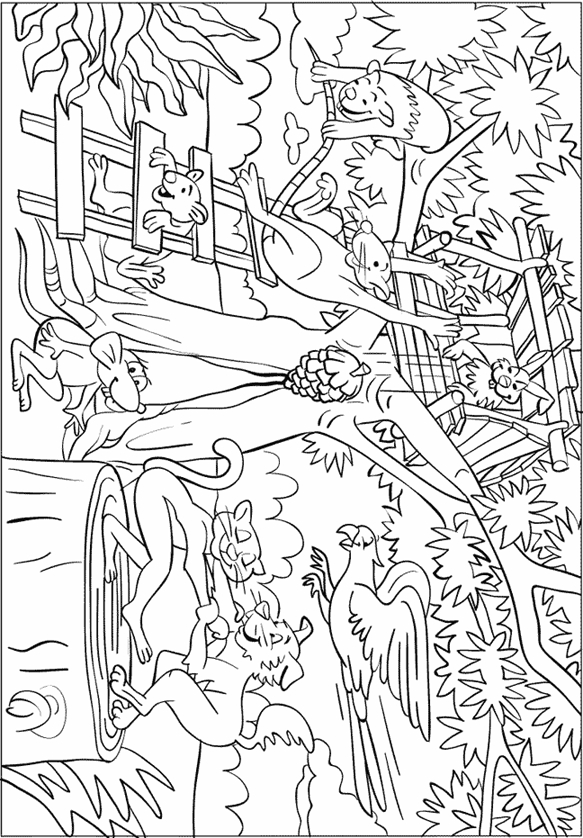 23 Jungle Animals Coloring Pages Images | FREE COLORING PAGES
